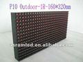 P10 32x16 512 de un solo módulo de color al aire libre al aire libre dip 1r p10 color único exhibición llevada signo/led junta/led del panel