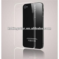 for iphone 5 crystal clear transparent plastic hard back case