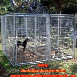Hot dip galvanized steel wire chain link dog kennel