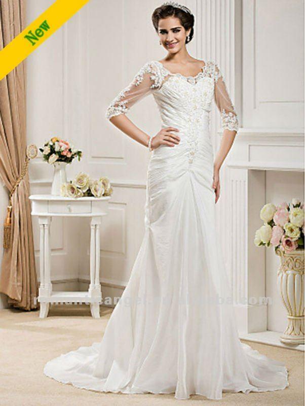 Mermaid Wedding Dresses Long Sleeves Long Sleeve Trumpet/mermaid