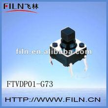 FTVDP01-G73 6x6mm 4 pin 12v mini tactile switch ROHS
