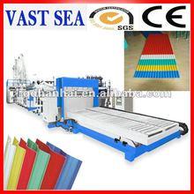 corrugated PVC plastic sheet extruding machine