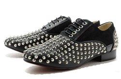 designer shoes men formal black shoes spike shoes hot sale