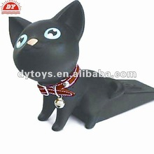 New design 2012 Plastic black cat animal toys