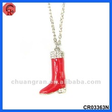 2012 merry christmas jewelry charming christmas boots hot sale greek jewelry