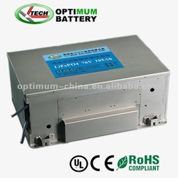 French Project Powerful E-car Batteries Lithium Pack 76V105Ah with BMS
