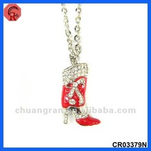 2012 merry christmas charming boots gift pendant hot sale brand name fashion costume jewelry