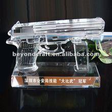 Bling crystal gun model,crystal gun model gifts,shooting match gifts