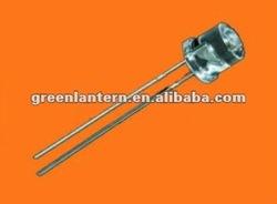 5mm flat top LED amber
