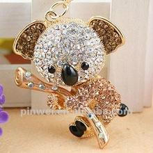 Stock Rhinestone Koala keychain key ring SK192