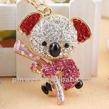 Stock Rhinestone Koala keychain key ring SK194