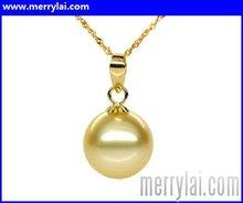 Golden Classic Pearl Pendant, AAA (ML-12-YO1008-001)