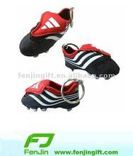 promotional mini football shoe keychain