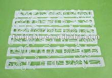 Alfabetos& números preencher bolo cortador de gravação decorar fondant ferramentas de molde
