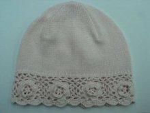 2015 Cheap & Cute 100% Cotton Flower Pattern Kids Children Teens Knitted Beanie Hat