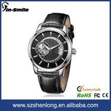 Top quality relógio de aço inoxidável voltar resistente à água