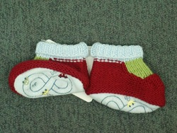 Knit emb. booties