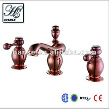 2012 newest design with rose gold plated 3 hole mono basin mixer HS-9923G