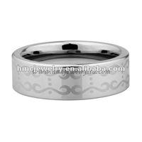 Tungsten Carbide Rings - Pattern Laser Engraved Sample 1