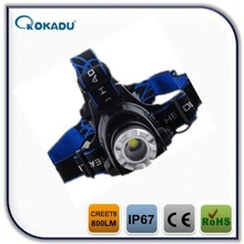4*AA 1000 lumen rechargeable led miner light