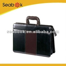 Brown leather business Briefcase bag