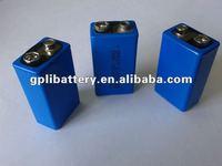 9 volt battery Lithium battery ER9V 1200mAh