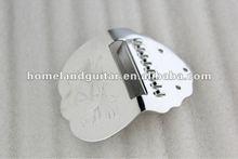 Mandolin Replacement Tailpiece Steel Brass Chrome