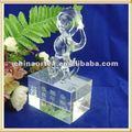 Figurines en cristal de singe de zodiaque chinois pour des &Souvenirs de cadeaux avec la base