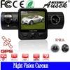 Built-in Li Battery GPS& AVI format/night vision HD cam dvr