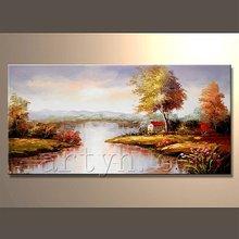 Popular handmade artist famous art painting landscape wall art
