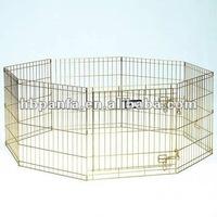 Pet Exercise Pen - Gold Zinc/9 & 11 gauge wire /8 panels with door