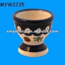 Blue Polish chicken egg cups for children Porcelain ceramic cooking egg stand