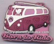 """""""born to ride"""" rabbit 3D effect soft eco-friendly PVC fridge magnet"""