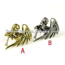 Punk single wing wings skeletal cross personality ring, RN-622