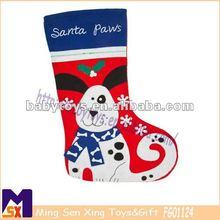 beautiful luxurious embroidery pet christmas stockings soft red dog christmas stocking embroidery design