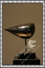 EP-20289 modern style bird polished stainless steel statue