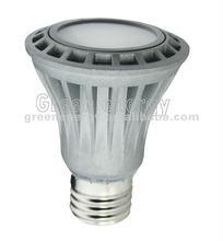 TUV CE led spotlight dimmable PAR20 7w 120v/230v/100-240v 120 beam angel