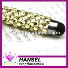 Rhinestone gold touch pen