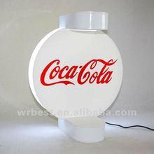(W7021)spinning pop display, top magnetic floating display, led lighting pop display