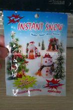 New colorful bag of Christmas fake snow