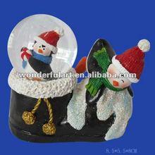 2013 christmas shoe shape resin snow globe