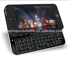 Black mobile phone wireless sliding bluetooth keyboard case for iPhone 5