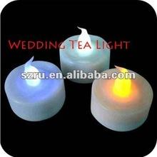plastic led wedding souvenir multi-colored led tea light