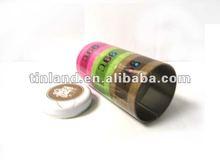 round storage tins, free samples