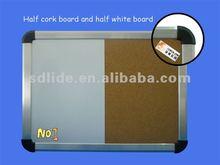 Half cork board and half white board combination board LD002-CW