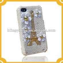 Purple 3D DIAMOND Rhinestone Jewel Heart BLING Hard Case for Apple iPHONE 4 4S BY-1079