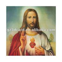 2013 new 3D picture of jesus 3D lenticular photo 3D PEP decoration picture