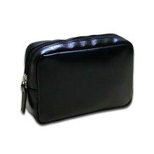 2012 latest designer high quality black pu cosmetic bag