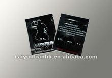 Decorative black printing herbal incense smoke bag with top seal