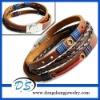 custom woven Colourful Thread Wax Rope Beachy Bracelet bangle wristbands